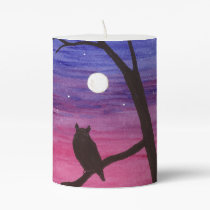 Great Horned Owl Pillar Candle
