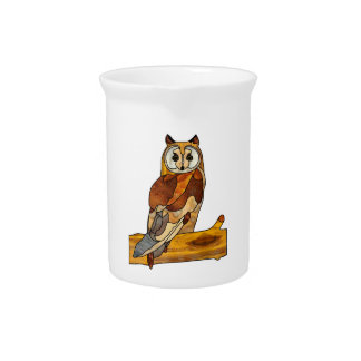 Great Horned Owl Beverage Pitcher