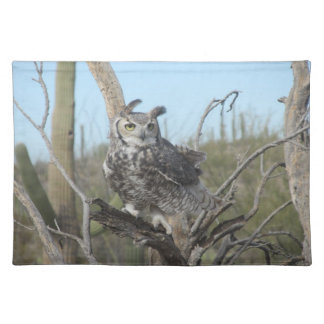 Great Horned Owl Cloth Placemat