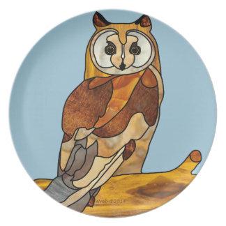 Great Horned Owl Dinner Plates