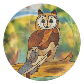 Great Horned Owl Party Plates