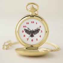 Great Horned Owl Pocket Watch