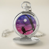 Great Horned Owl Pocket Watch