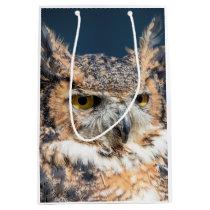 Great Horned Owl Portrait Medium Gift Bag