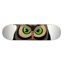 Great Horned Owl Skateboard