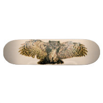 Great Horned Owl Skateboard Deck