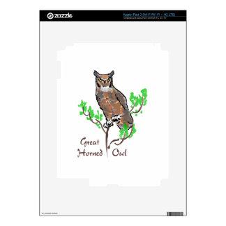 GREAT HORNED OWL iPad 3 SKIN