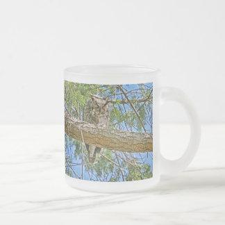 Great Horned Owl Sleeping Photo Mug