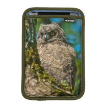 Great Horned Owl Sleeve For iPad Mini