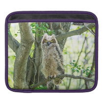 Great Horned Owl Sleeve For iPads