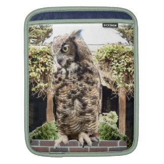 Great Horned Owl Sleeves For iPads
