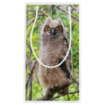 Great Horned Owl Small Gift Bag