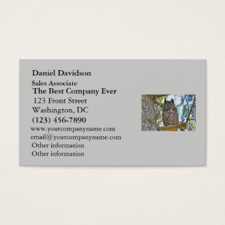 Great Horned Owl Staring Business Card
