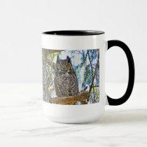 Great Horned Owl Staring Mug
