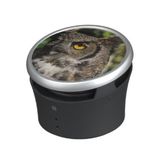 great horned owl, Stix varia, in the Anchorage Bluetooth Speaker
