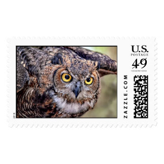 Great Horned Owl Taking Flight Postage Stamps