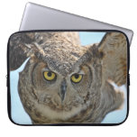 Great Horned Owl Taking Off Laptop Computer Sleeve