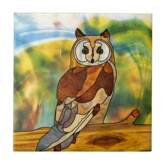 Great Horned Owl Small Square Tile