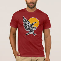Great horned owl tribal tattoo T-Shirt