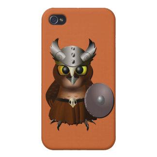 """Great Horned Owl"" Viking Helmet Owl Covers For iPhone 4"