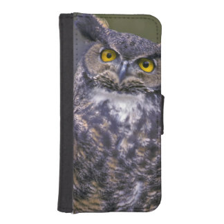 Great Horned Owl Wallet Phone Case For iPhone SE/5/5s