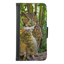 Great Horned Owl Wallet Phone Case For Samsung Galaxy S6