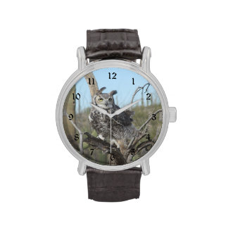 Great Horned Owl Wristwatches
