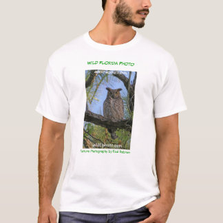 Great Horned Owl Wild Florida Photo T-shirt