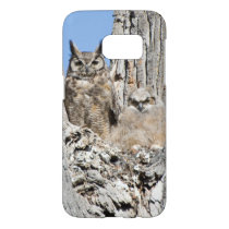Great Horned Owl With Baby Samsung Galaxy S7 Case