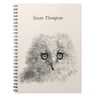 Great Horned Owlet Drawing Notebook