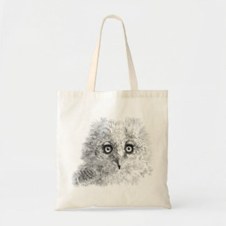 Great Horned Owlet Drawing Tote Bag