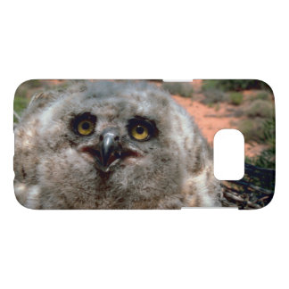 Great Horned Owlet Photograph Samsung Galaxy S7 Case