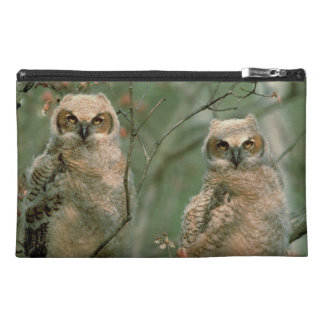 Great Horned Owls - Cute Baby Birds Travel Bag