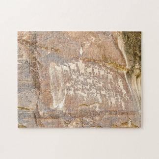 Great Hunt Panel - Rock Art Jigsaw Puzzle