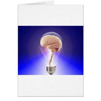 Great Idea Brain Bulb Card