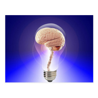 Great Idea Brain Bulb Postcard