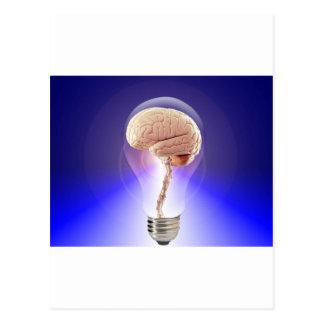 Great Idea Brain Bulb Postcard