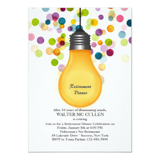 Great Idea Light Bulb Retirement Party Invitation