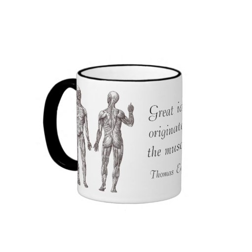 Great Ideas Originate in the Muscles Ringer Coffee Mug
