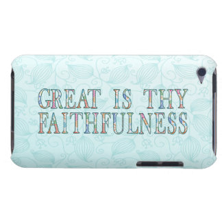 Great Is Thy Faithfulness Fancy Floral Alphabet iPod Case-Mate Cases