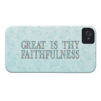 Great Is Thy Faithfulness Fancy Floral Alphabet iPhone 4 Case-Mate Case