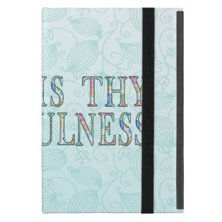 Great Is Thy Faithfulness Fancy Floral Alphabet Cases For iPad Mini