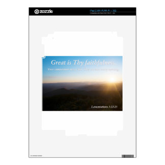 Great is Thy Faithfulness Skin For iPad 2