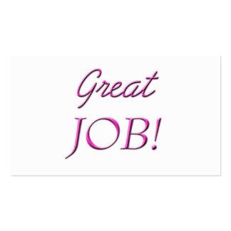 Great Job Business Card Templates