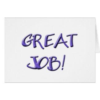 Great Job! Greeting Card