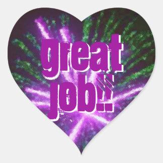 great job heart sticker