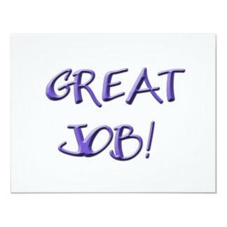 Great Job! 4.25x5.5 Paper Invitation Card