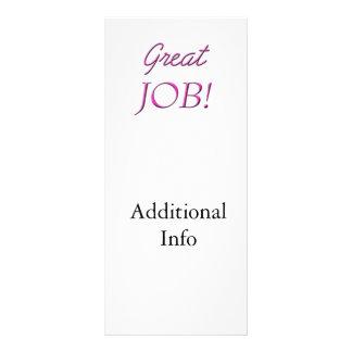 Great Job Customized Rack Card