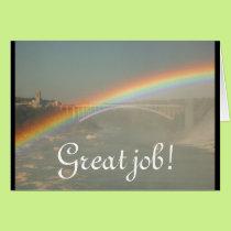 Great Job Rainbow Personalize Destiny Destiny'S Card