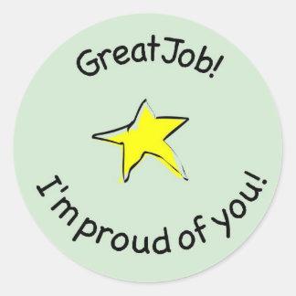 great job sticker for kids